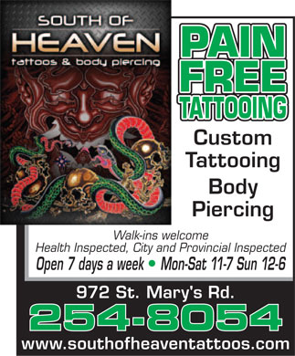 South Of Heaven Tattoos
